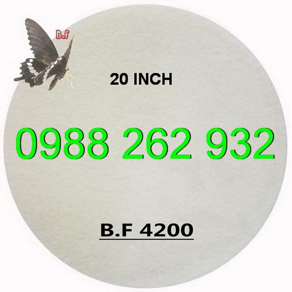 Pad đánh bóng sàn màu trắng kích thước 20 inch